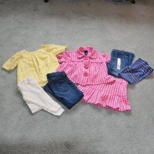 Girls 7 Piece Variety Cute Clothing Bundle